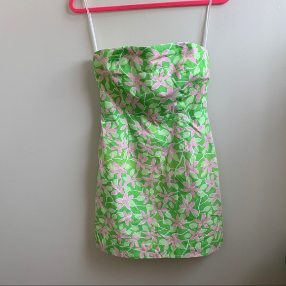 Lilly Pulitzer white label strapless dress 6